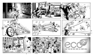 Eco 2 commercial storyboards